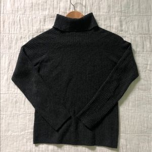 VINCE Gray Cashmere Turtle Sweater